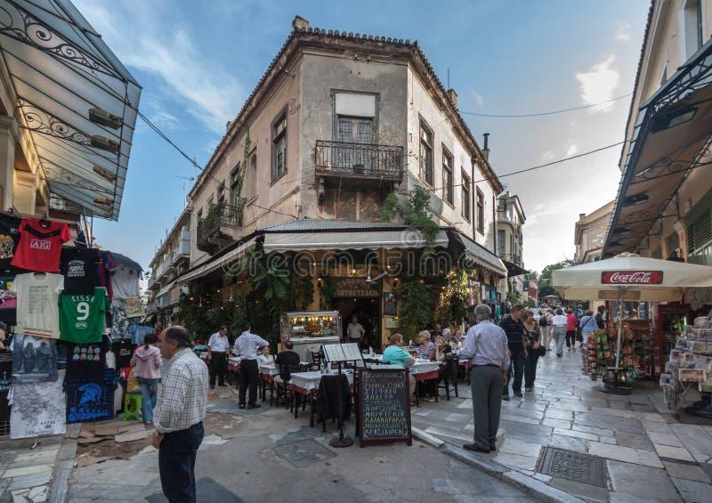 Vecindad Atenas Grecia de Plaka foto de archivo libre de regalías