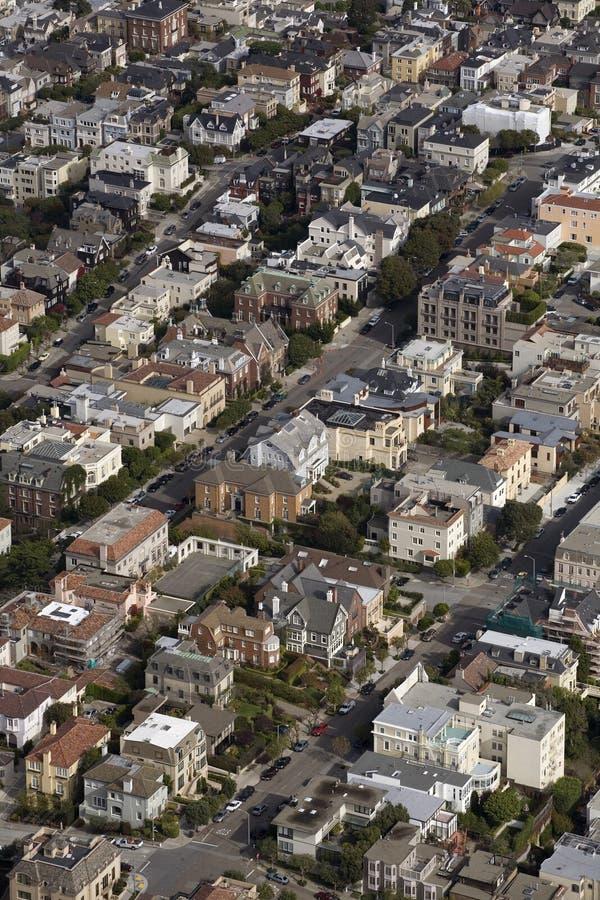 Vecindad colorida de San Francisco imagenes de archivo