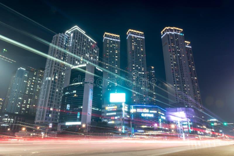 Vecindad Daegu de Bomeo foto de archivo