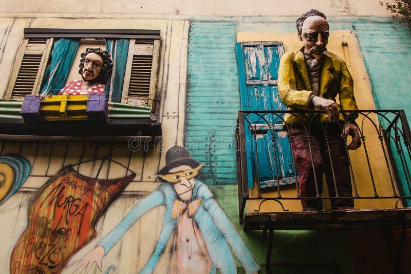 Vecindad de Boca del La de Buenos Aires la Argentina fotos de archivo