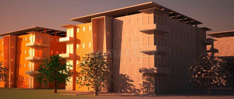 Vecindad de Digitaces en la construcción. stock de ilustración