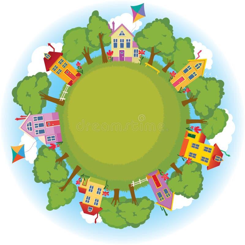 Vecindad feliz ilustración del vector