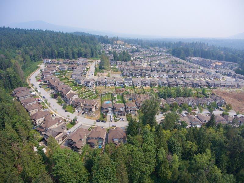 Vecindad suburbana imagenes de archivo