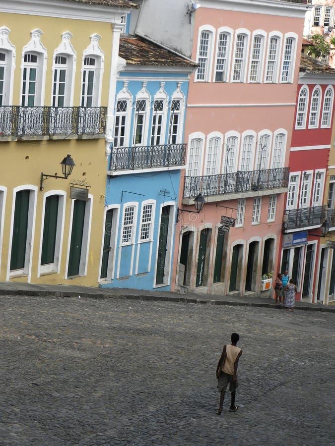 Vecindad VIEJA Salvador Bahia Brazil de PELOURINHO foto de archivo