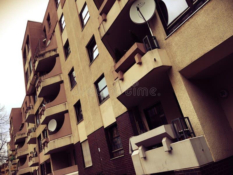 Vecindades residenciales en Berlín, Alemania imágenes de archivo libres de regalías
