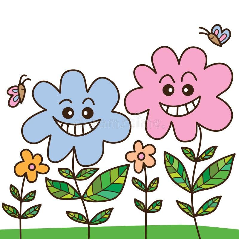 Vecino de la flor ilustración del vector