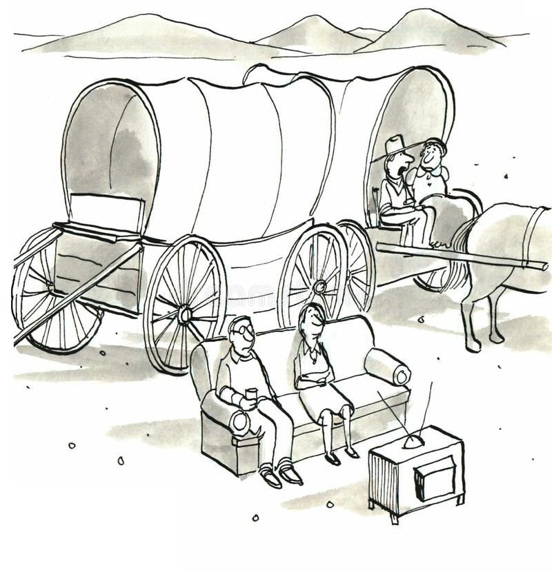 Vecinos stock de ilustración