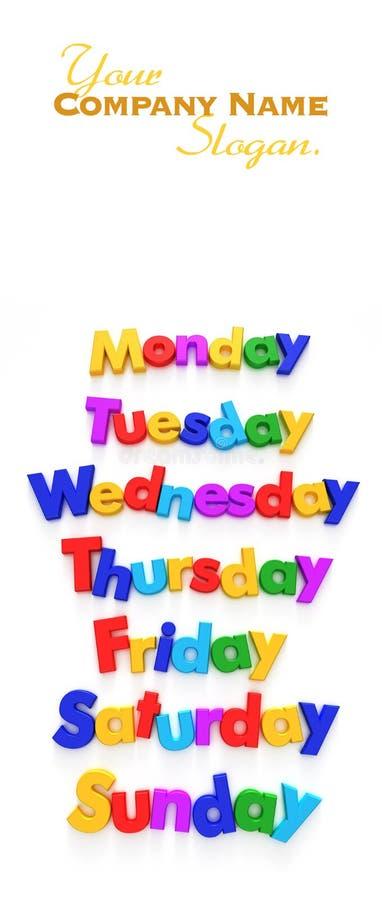 vecka för magneter för dagbokstav royaltyfri fotografi