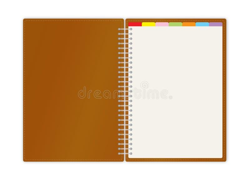 Veckobok för affärsprojektplanner royaltyfri illustrationer