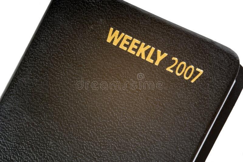 veckokalender 2007 royaltyfri fotografi
