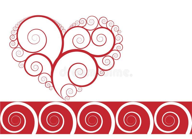 vecor d'ornement de coeur de conception illustration libre de droits