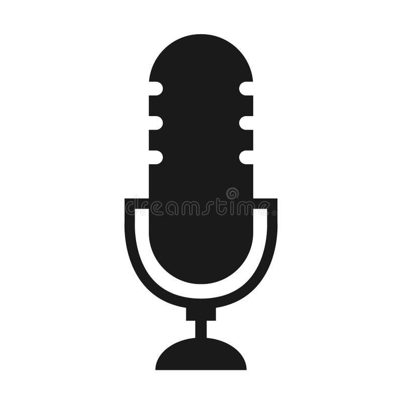 Vecor van het Podcast radiopictogram op witte achtergrond De microfoon van de studiolijst vector illustratie