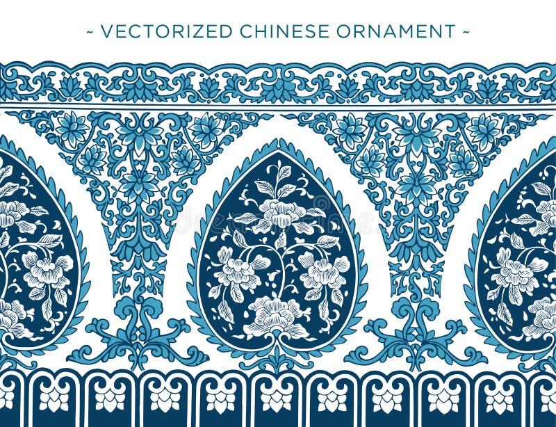 Vecorized中国人装饰品 皇族释放例证