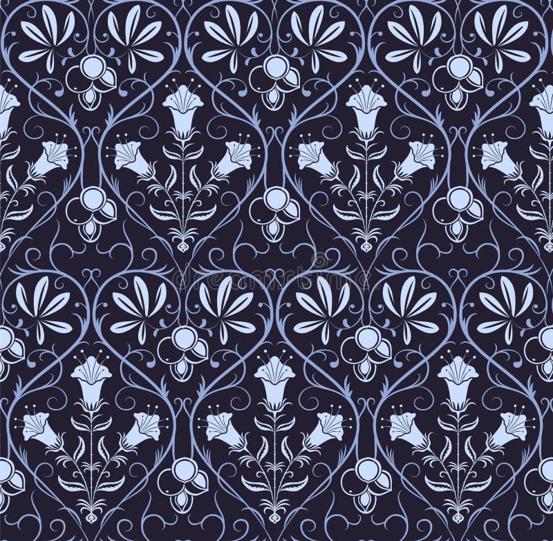 Vecotr bezszwowy wzór z klasycznym ornamentem royalty ilustracja