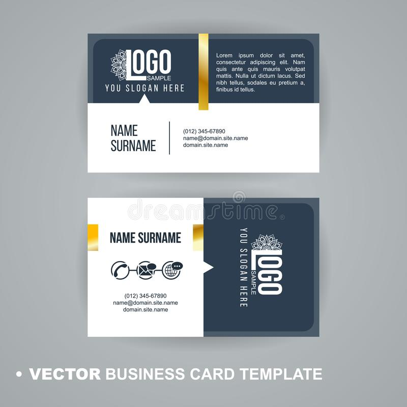Vecrot-Visitenkarteschablone Moderne abstrakte Luxusart für Geschäftsvisitenkarte, Aufkleber, Aufkleber, Ausweis lizenzfreie abbildung