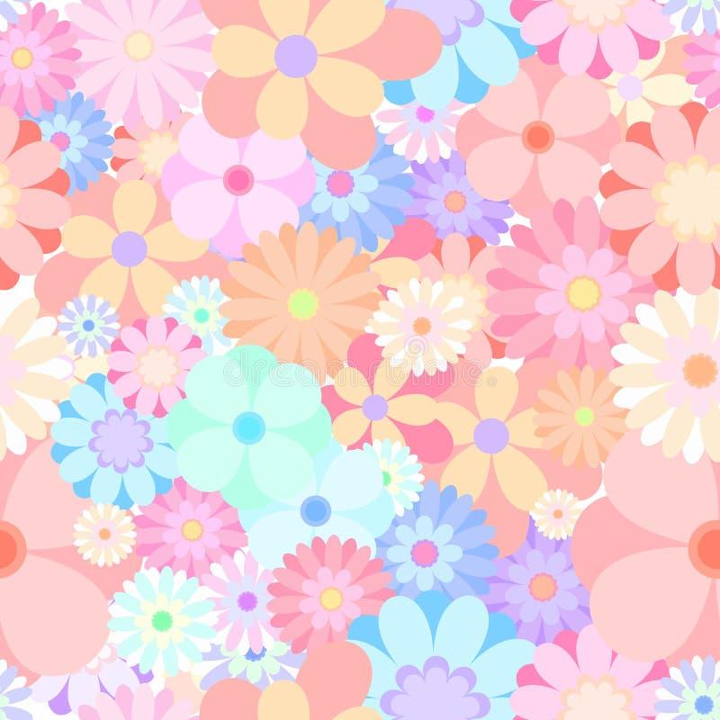 Vect floreciente del fondo del modelo del relevo de la flor colorida inconsútil imágenes de archivo libres de regalías