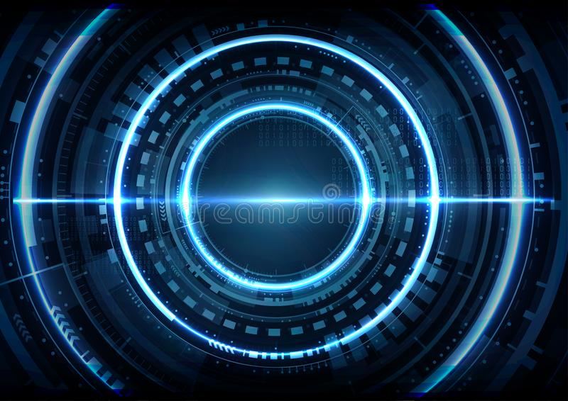 Vect futurista abstrato do fundo da relação da tecnologia digital ilustração stock