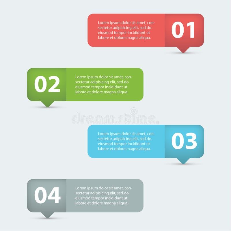 Vect grazioso e pulito dell'insegna di opzioni dei grafici di informazioni illustrazione di stock