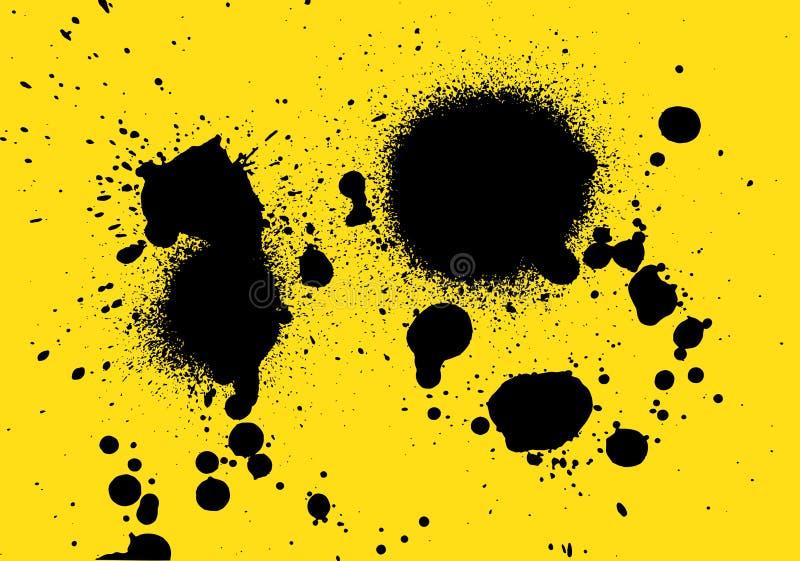 Vecter de peinture de jet pour le fond de peinture de jet de conception et de nombre photographie stock libre de droits