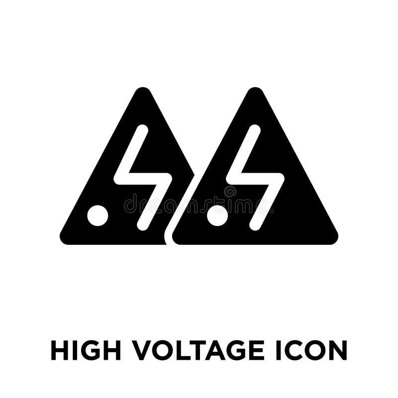 Vecteur à haute tension d'icône d'isolement sur le fond blanc, logo concentré illustration stock