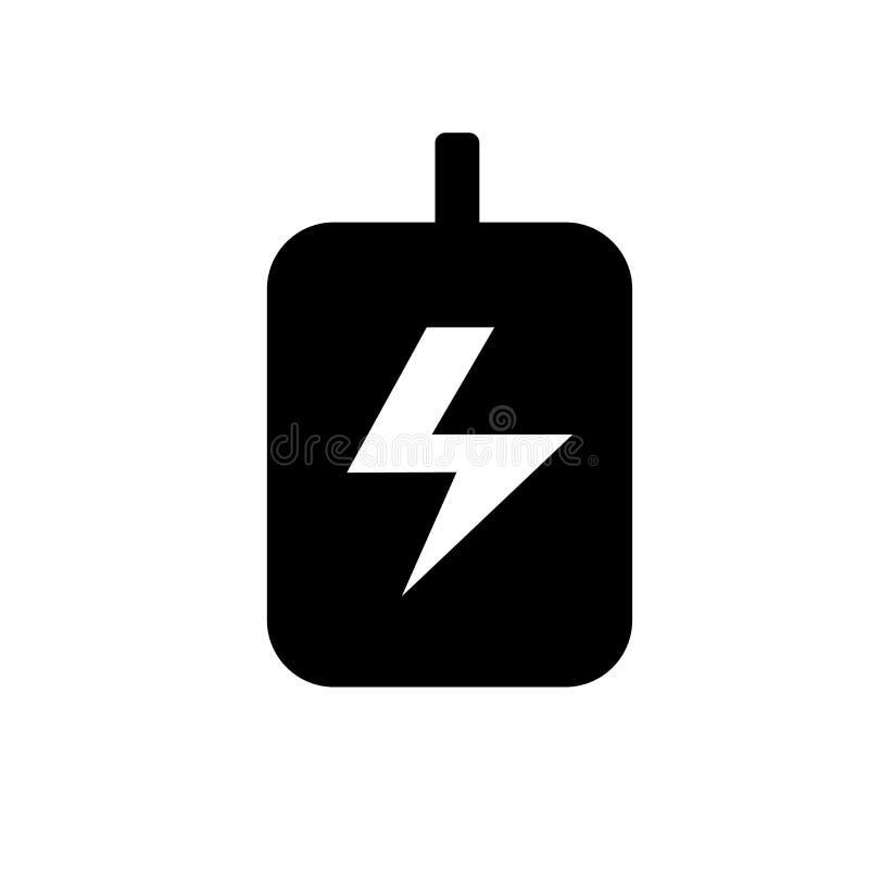 Vecteur à haute tension d'icône d'isolement sur le fond blanc, signe à haute tension illustration de vecteur