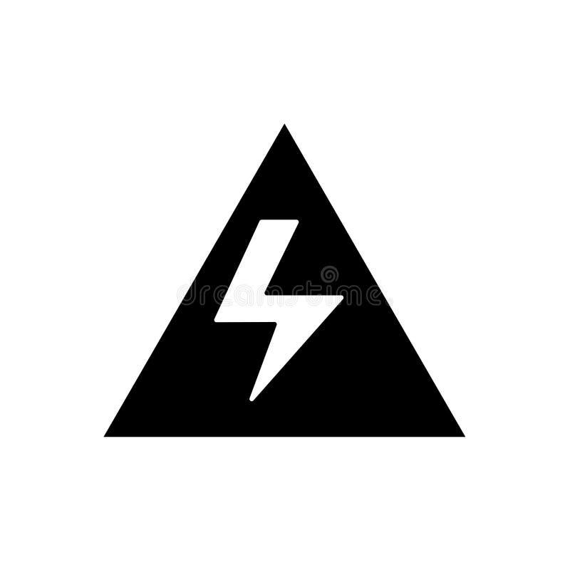 Vecteur à haute tension d'icône d'isolement sur le fond blanc, volt élevé illustration stock