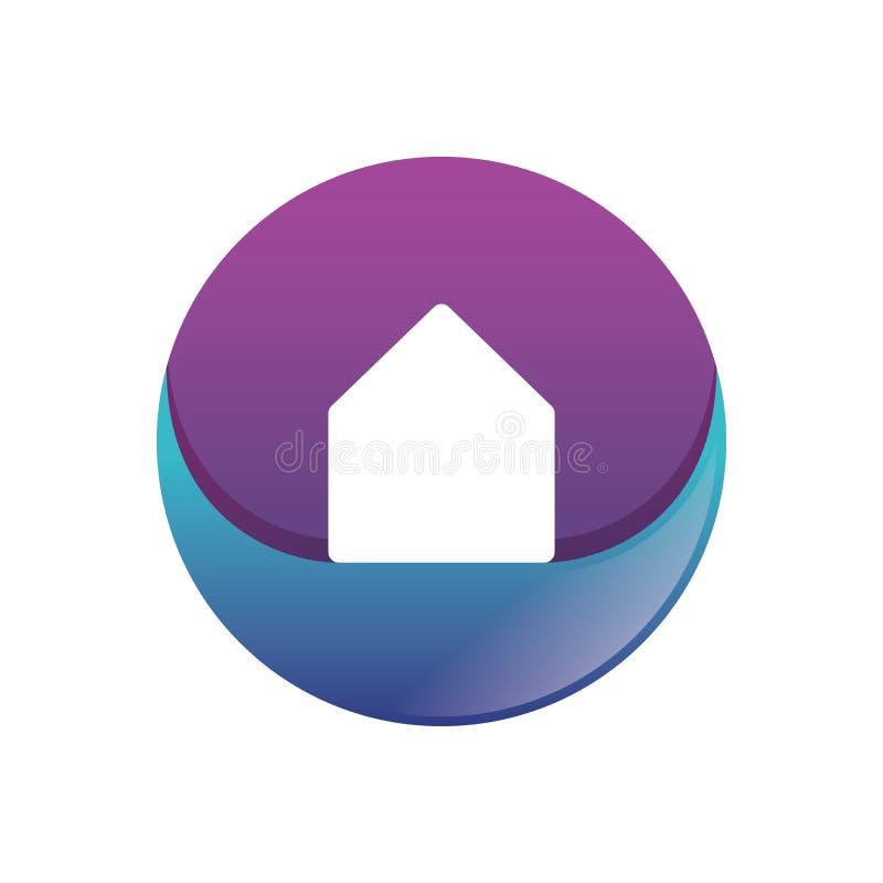 Vecteur à la maison de logo de gradient de cercle illustration stock