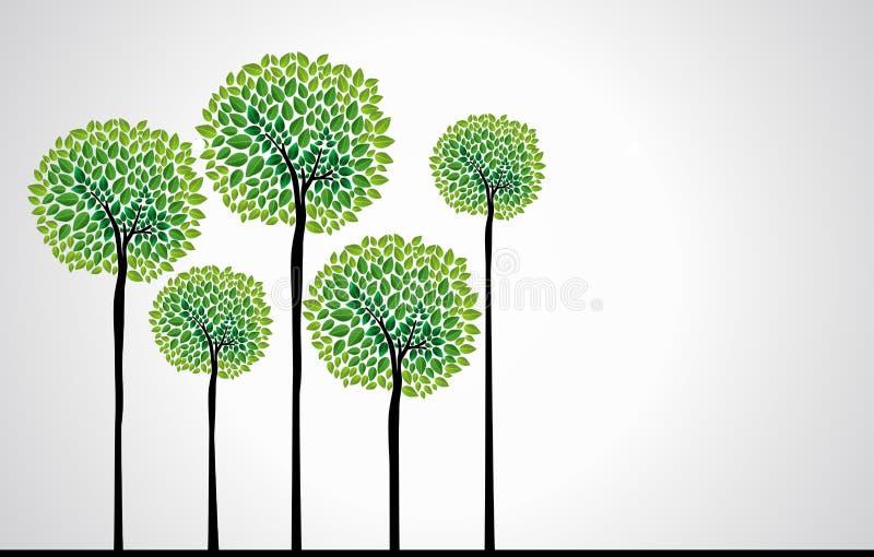 Vecteur à la mode d'arbres de concept illustration stock