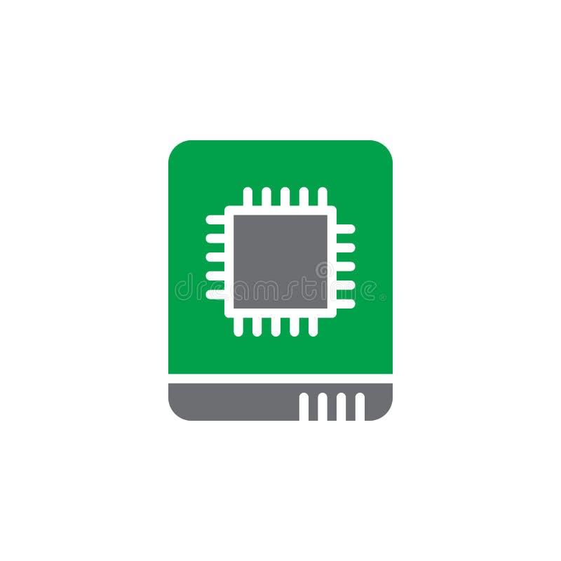 Vecteur à semi-conducteur d'icône d'entraînement, signe plat rempli, pictogramme coloré solide d'isolement sur le blanc illustration stock