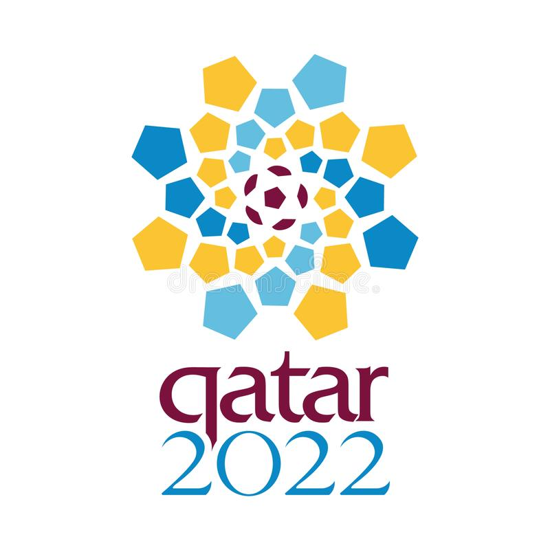 Vecteur 2022 éditorial de coupe du monde du Qatar la FIFA illustration de vecteur