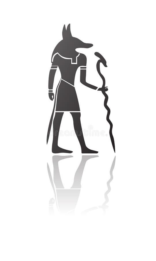 Vecteur égyptien d'anubis de divinité illustration de vecteur