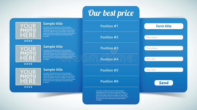 Vecteur élégant de fiche facile à éditer illustration stock