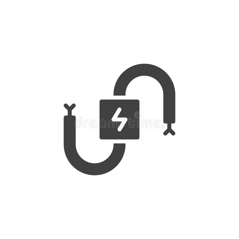Vecteur électrique d'icône de câble illustration libre de droits