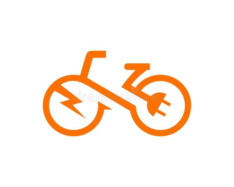 Vecteur électrique de calibre de vélo image stock