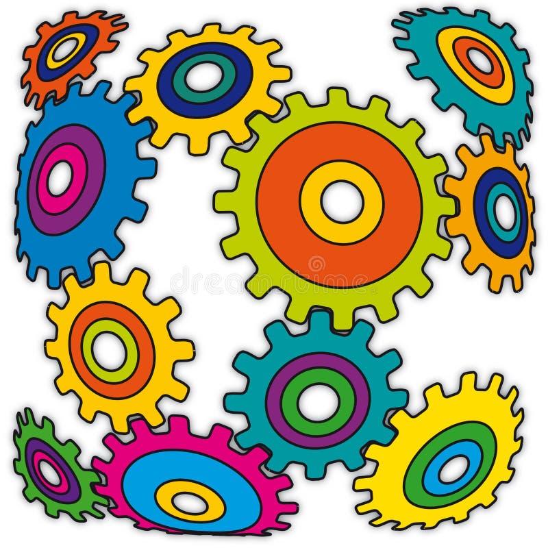 vecteur étrange de mécanisme illustration de vecteur