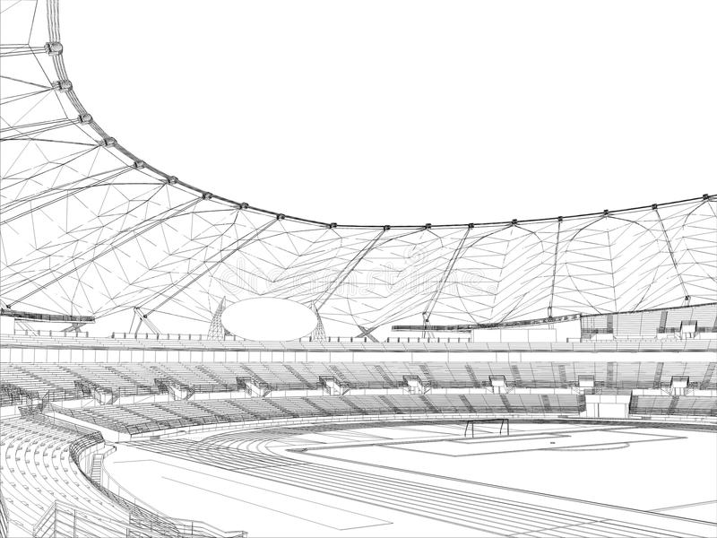 Vecteur 14 de stade de football du football illustration de vecteur