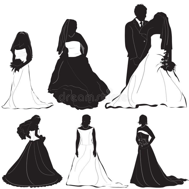 Vecteur 2 de marié de mariée illustration libre de droits