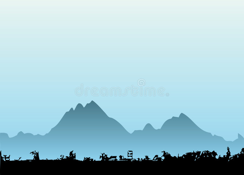 Vecteur 2 de montagne illustration de vecteur