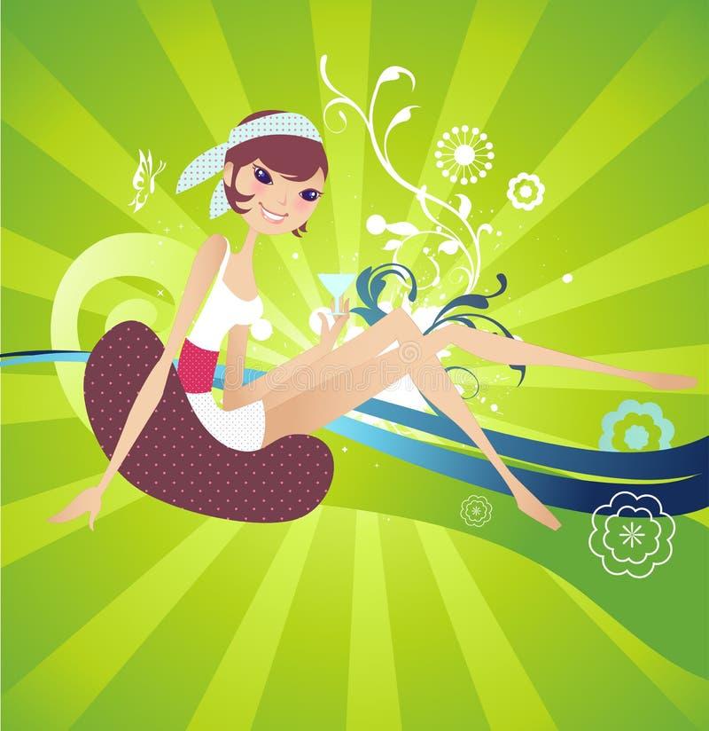 Vecteur abstrait Background_Girl 001 illustration libre de droits