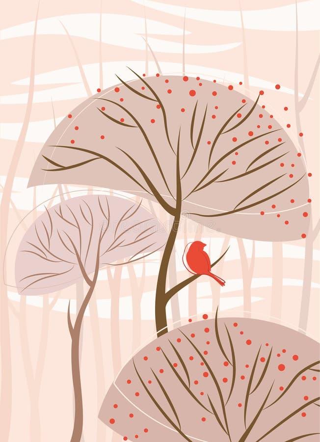Vecteur abstrait d'arbre illustration libre de droits