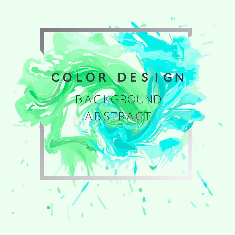 Vecteur abstrait d'illustration d'affiche de conception de texture de peinture d'aquarelle de fond d'art au-dessus de cadre carré photo libre de droits