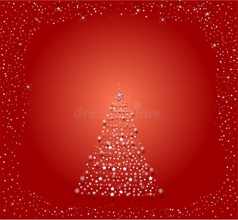 Vecteur abstrait d'un arbre de Noël illustration libre de droits