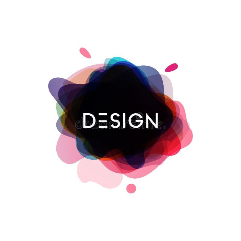 Vecteur abstrait de calibre de conception graphique d'élément de brosse illustration stock