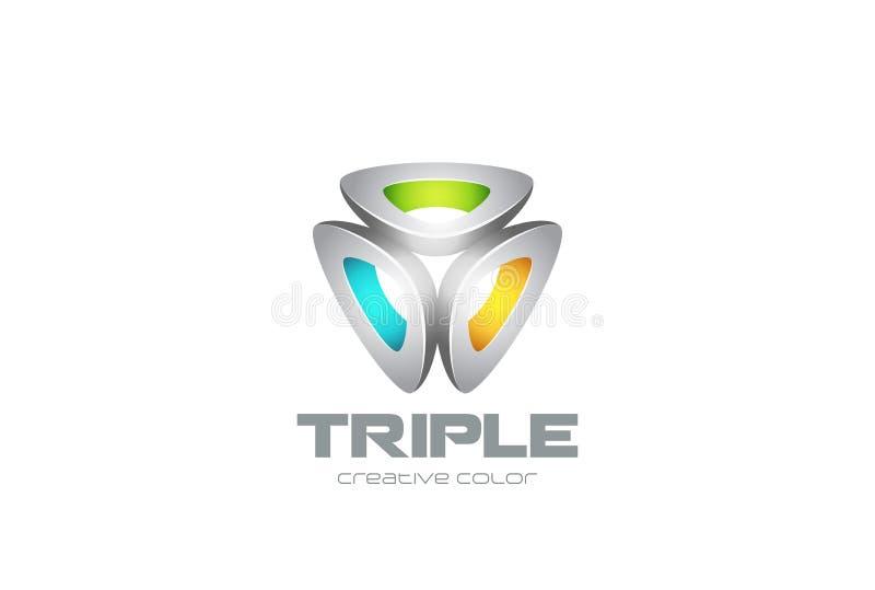 Vecteur abstrait de conception de technologie de logo de triangle illustration de vecteur