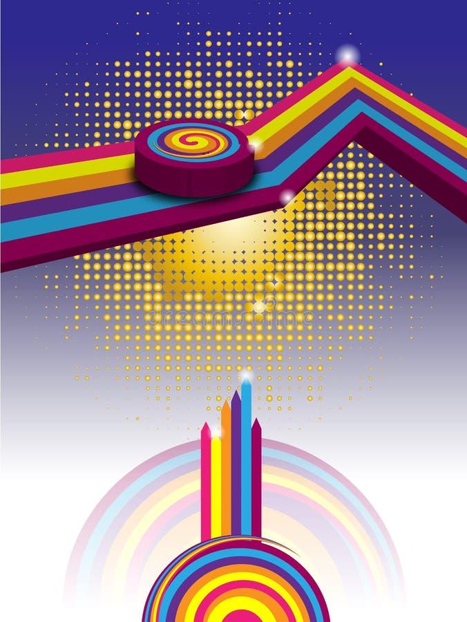 Download Vecteur abstrait de fond illustration de vecteur. Illustration du courbe - 45365138