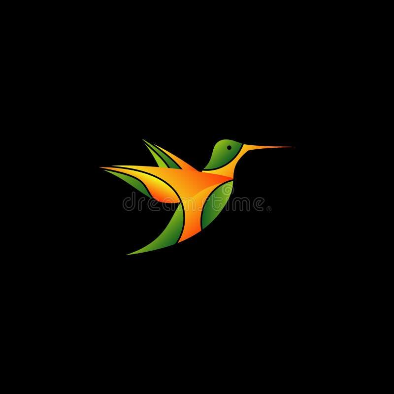 Vecteur abstrait de logo d'oiseau de ronflement de vol illustration de vecteur