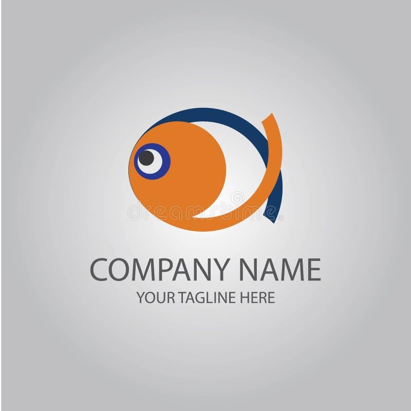 Vecteur abstrait de logo de poissons illustration stock