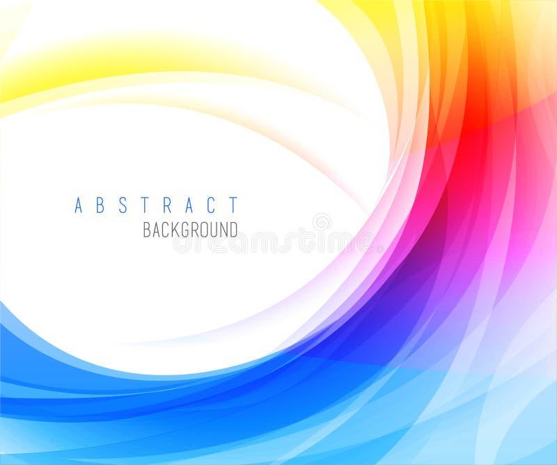 Vecteur abstrait de milieux colorés illustration libre de droits