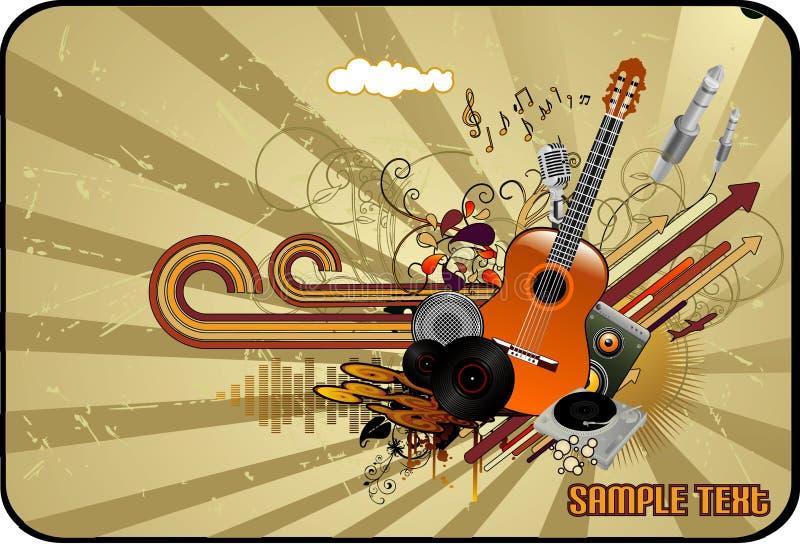Vecteur abstrait de musique illustration de vecteur