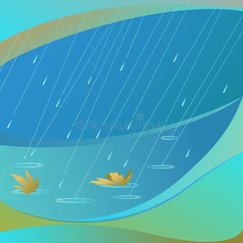 Vecteur abstrait de pluie illustration stock